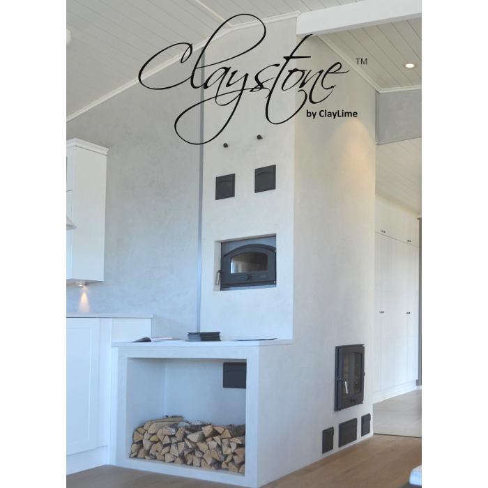 Claystone sisustuslaasti Glasier takka leivinuuni