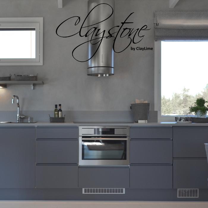 Claystone sisustuslaasti keittio edesta