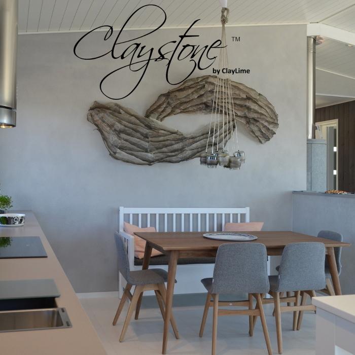 Claystone sisustuslaasti ruokatila