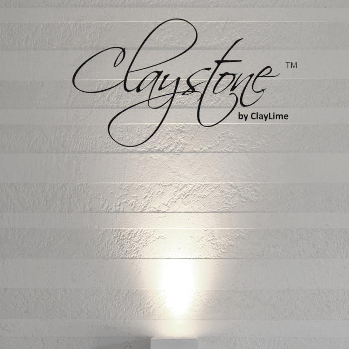 Claystone sisustuslaasti takkahuone raitaseina Glasier