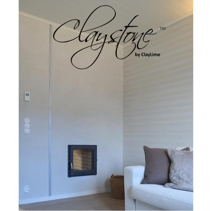 Claystone sisustuslaasti takkahuone