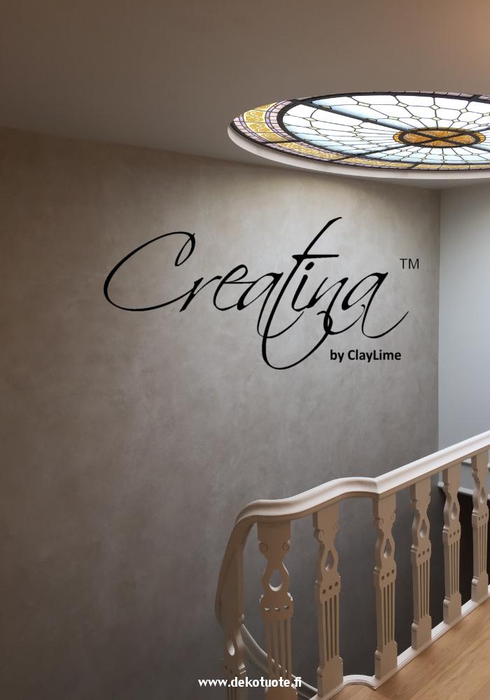 Creatina sisustuspinnoite harmaa portaikko
