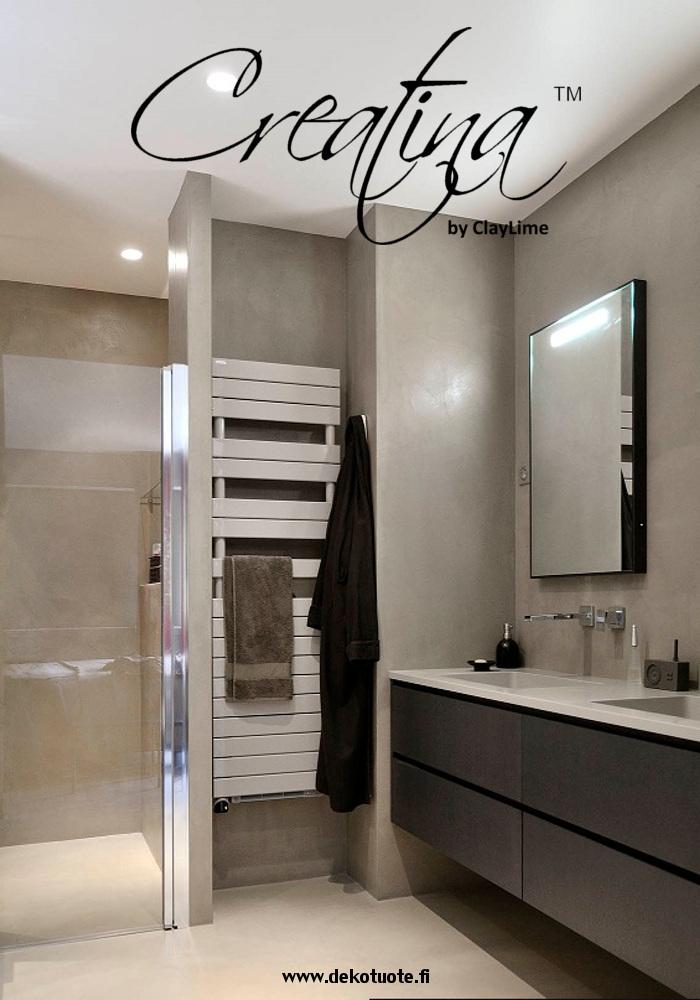 Creatina sisustuspinnoite kylpyhuone