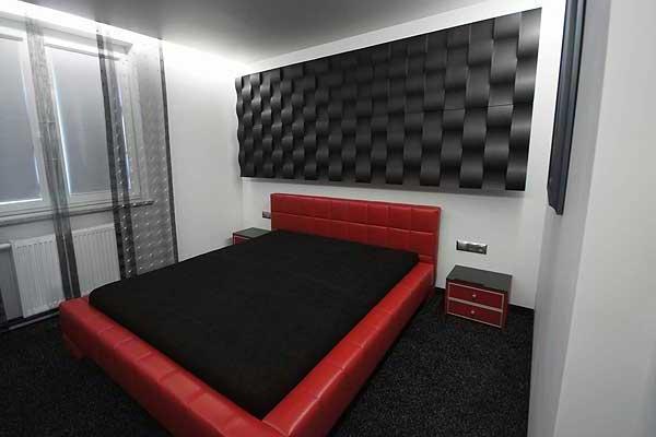 Loft 3D paneeli malli 03 Twist makuuhuone