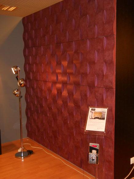 Loft 3D paneeli malli 03 Twist punainen