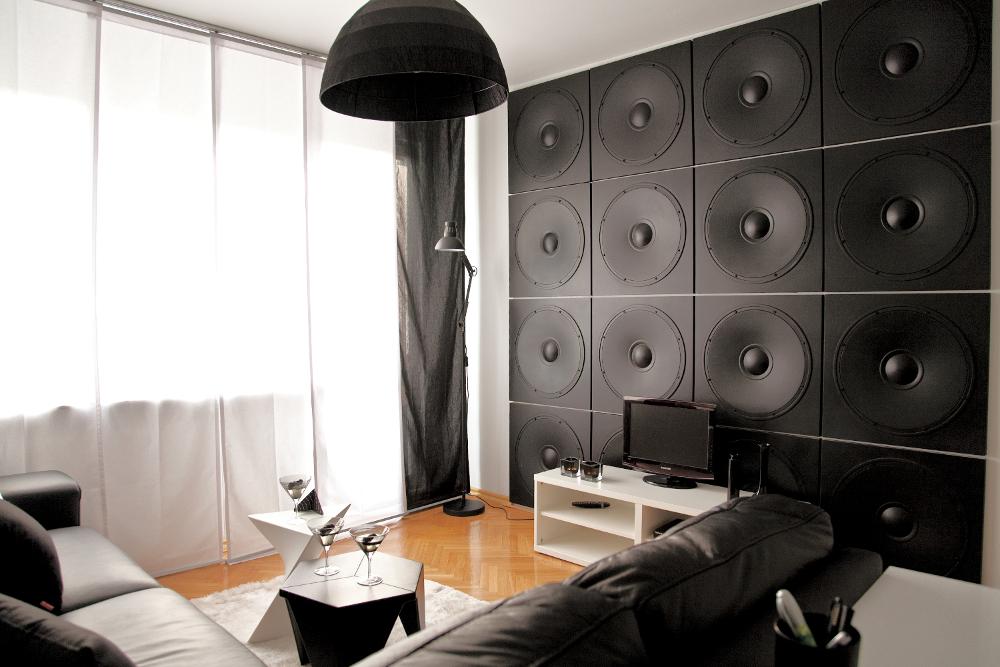 LOFT 3D paneeli malli 11 Speaker olohuone