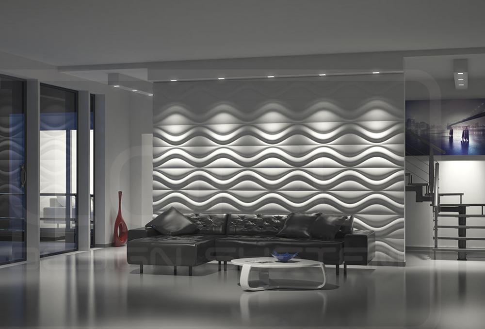 LOFT 3D paneeli malli 17 Hourglass olohuone 2