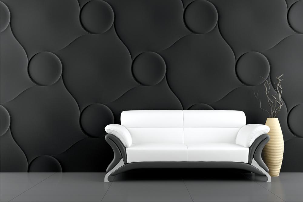 LOFT 3D paneeli malli 20 Quilted valkoinen sohva