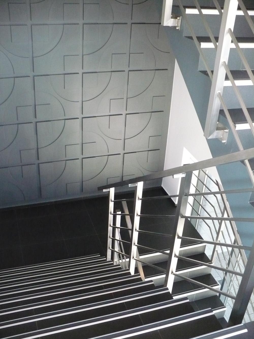 Loft 3D paneeli malli 05 portaikko harmaa