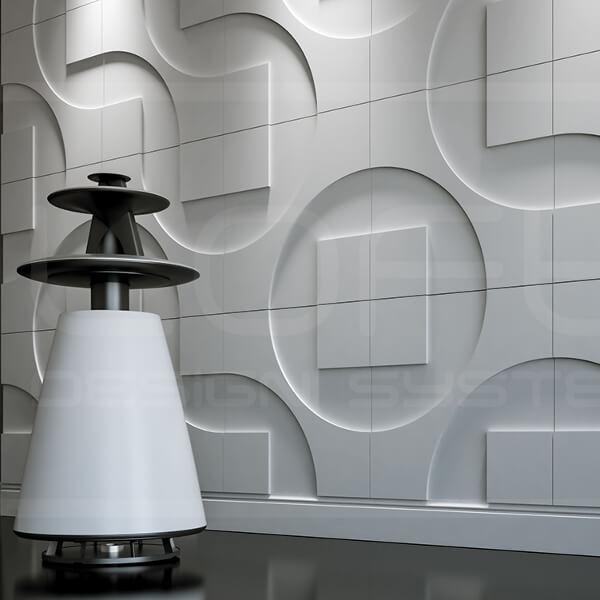 3d-paneeli-loft-malli-05-round-square-valkoinen-kaiutin-lahikuva