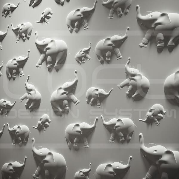 3d-paneeli-loft-malli-14-jungle-elefantti-lahikuva