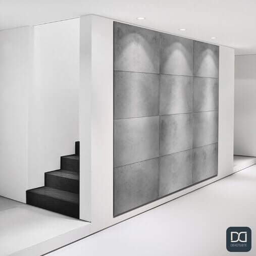 loft-concrete-seinapaneeli-betoni-laatta-huomioseina-spottivalot-portaat