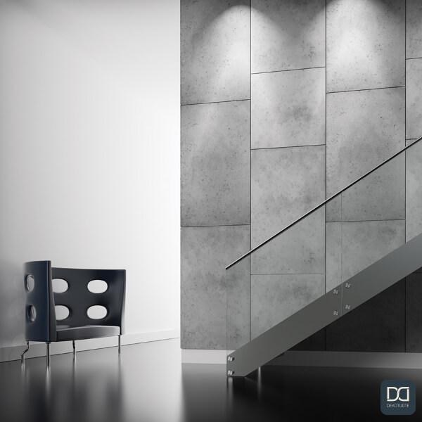 loft-concrete-seinapaneeli-betoni-laatta-tehosteseina-portaikko-tuoli