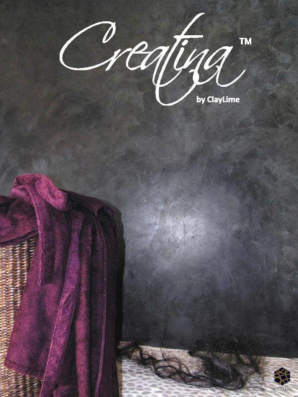 claylime-creatina-sisustuslaasti-sisustuspinnoite-eloisa-kylpyhuone-musta-lila-dekotuote