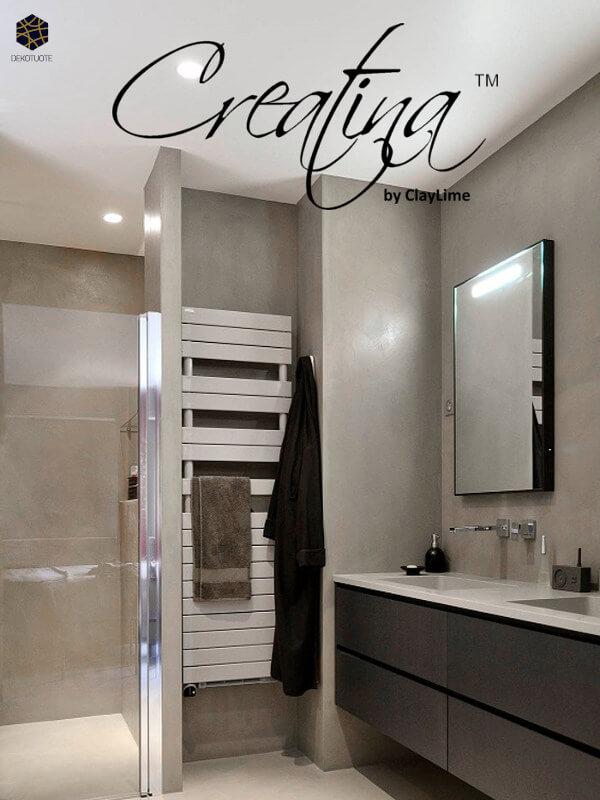 claylime-creatina-sisustuslaasti-sisustuspinnoite-eloisa-kylpyhuone-pyyhekuivain-dekotuote