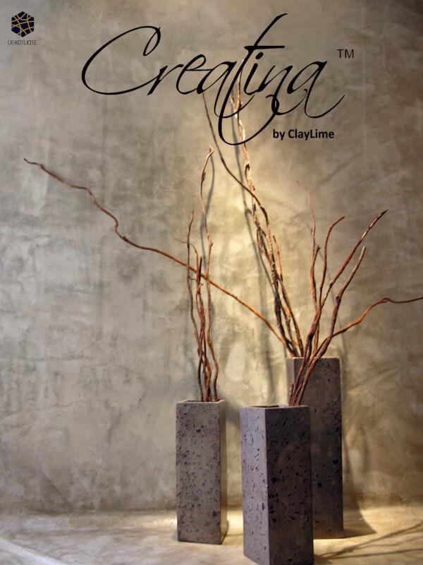claylime-creatina-sisustuslaasti-sisustuspinnoite-eloisa-kylpyhuone-ruukut-dekotuote