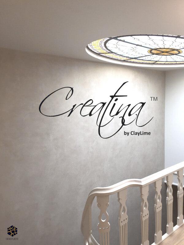 claylime-creatina-sisustuslaasti-sisustuspinnoite-eloisa-portaikko-kattoikkuna-dekotuote