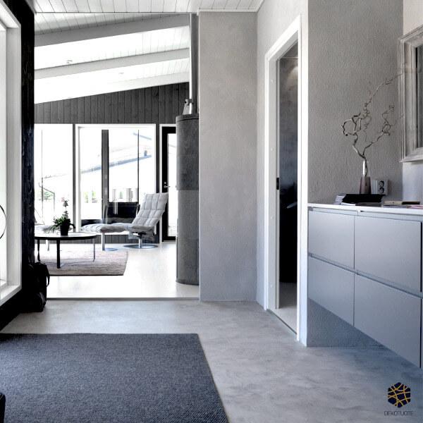 claystone-sisustuslaasti-harmaa-eteinen-seina-loma-asuntomessut-dekotuote